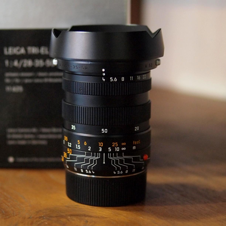 Leica Tri Elmar M 28-35-50 F4 ASPH E49 RARE Item Sudah Include Hood