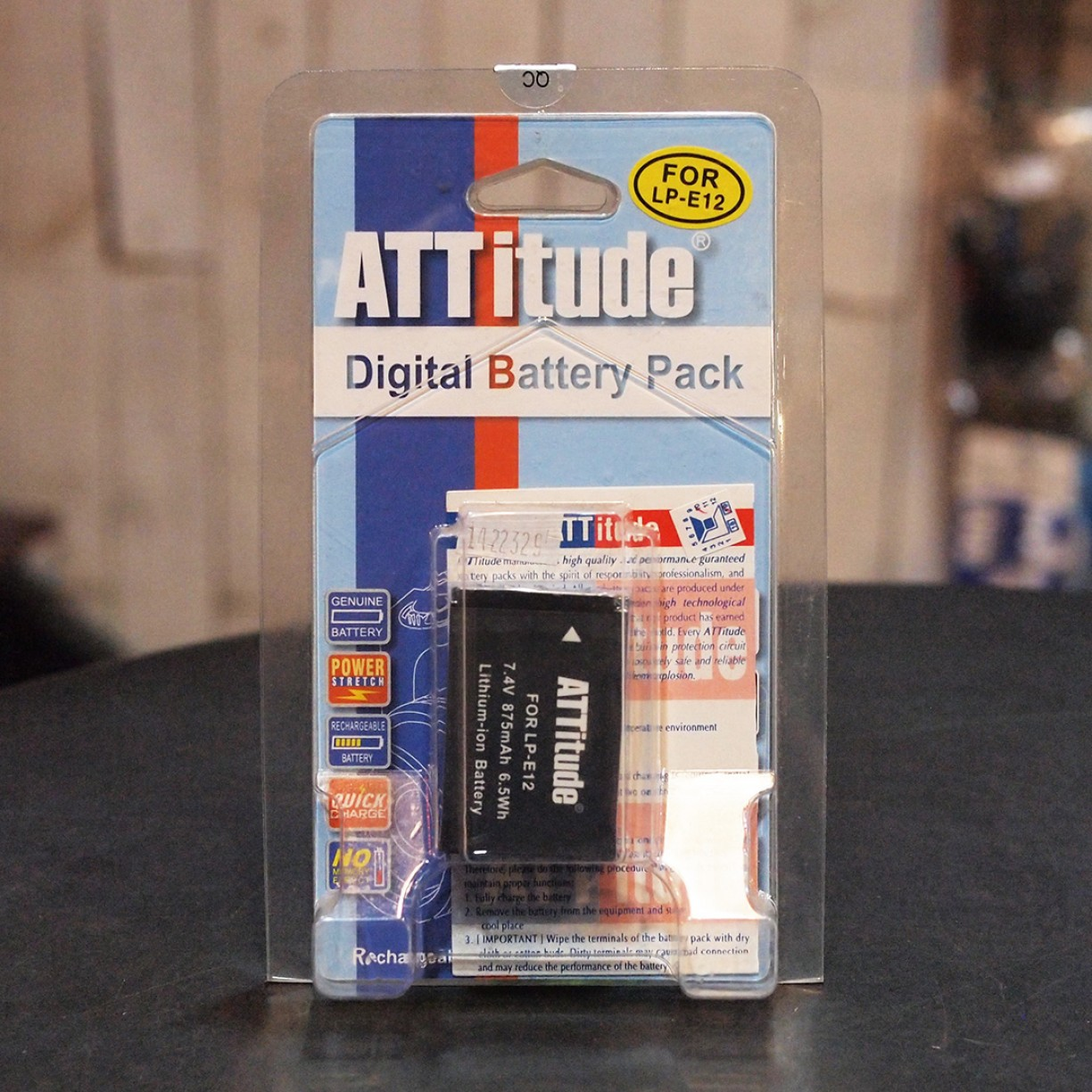 ATTITUDE BATTERY FOR CANON LP-E12